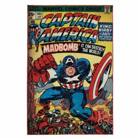 Marvel Captain America Area Rug 6.5L x 4.5W ft. NEW