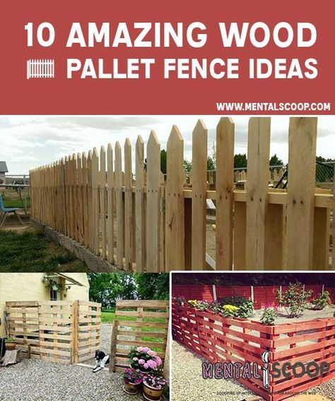 10 Amazing Wood Pallet Fence Ideas Wood Pallet Fence Pallet