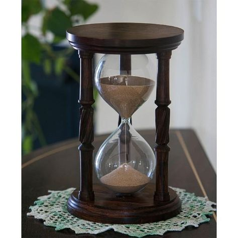 ebcbdb52d2b Solid Granadillo Wood Hourglass With Spiral Spindles