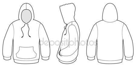 Download Download Hooded Sweater Template Vector Illustration Stock Illustration 4351395 Template Desain Hoodie