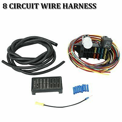 Sponsored Ebay Universal 8 Circuit Wiring Harness Muscle Car Hot
