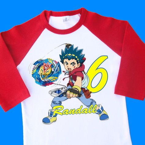 Beyblade Birthday Shirt Burst Evolution Personalized With Name Age 4th 5th