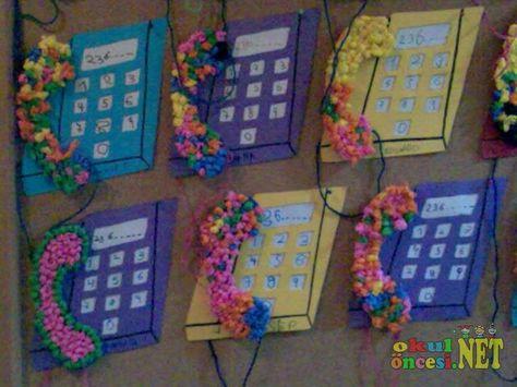 Okul öncesi Telefon Sanat Etkinliği Googleda Ara Okul öncesi