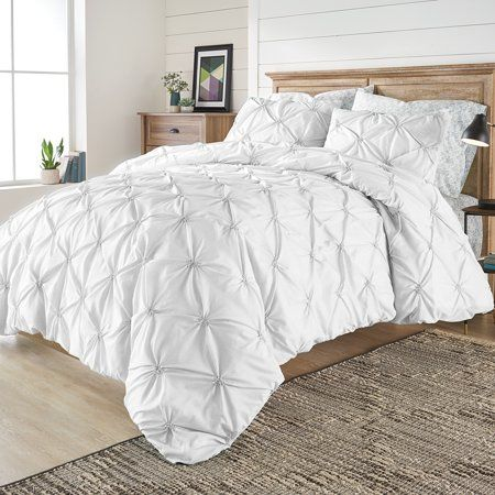 Better Homes And Gardens 3 Piece Elastic Pintuck Duvet Cover Set Pintuck Duvet Cover Pintuck Duvet Duvet Cover Sets