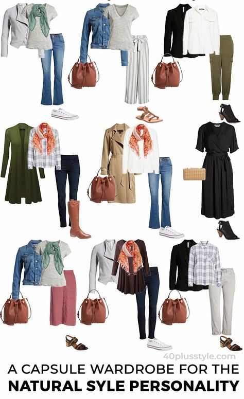 A capsule wardrobe and style guide for the NATURAL style personality