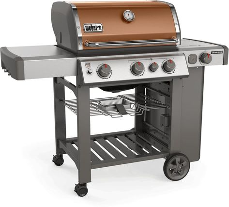 Weber Genesis Ii E 330 Liquid Propane Grill Copper Propane Gas Grill Grilling Smoke Grill