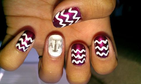 Pin By Ashley Martin On Aggieland Nails Texas Nails Nails Desing