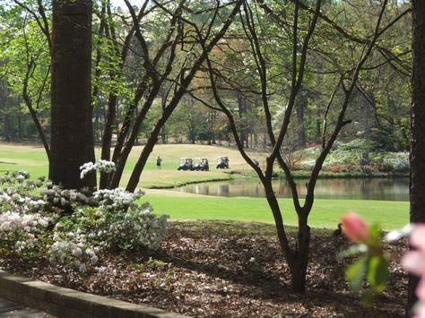Golfers enjoying a round on the Azalea nine