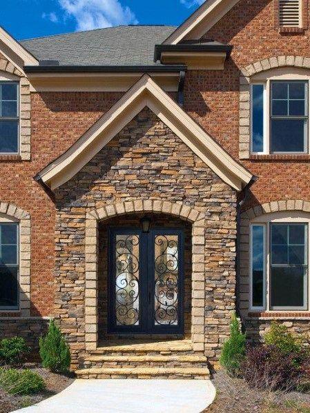 Top 50 Best Brick And Stone Exterior Ideas Cladding Designs Stone Exterior Houses Brick Exterior House Exterior Brick