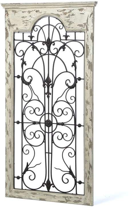 One Allium Way Gate White Wood And Metal Wall Decor Medallion