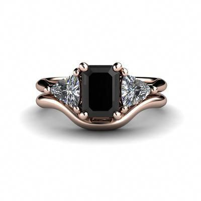 Jewelry Might Be A High Priced Expense Or A Imaginative Set Up Of Precious Gemsto Black Diamond Wedding Sets Unique Diamond Rings Black Diamond Ring Engagement
