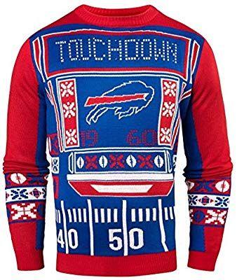 42a69ca12 Amazon.com   FOCO NFL Buffalo Bills Mens Ugly Light Up Crew Neck  Sweaterugly Light Up Crew Neck Sweater