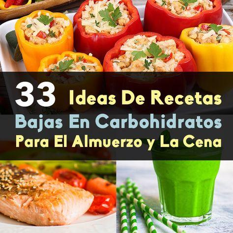 recetas para almuerzos sin carbohidratos