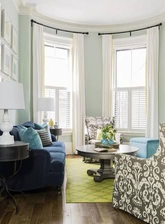 Image Result For Pale Green Walls Light Carpet Blue Couch Decor