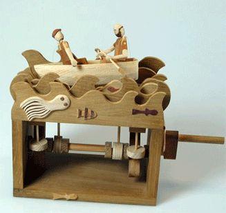 wooden automata by Wanda Sowry