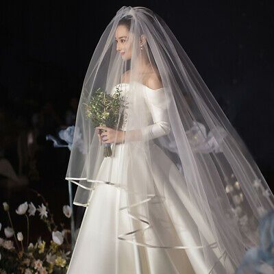 Wedding Veils In 2020 Wedding Bridal Veils Plain Wedding Dress Bridal