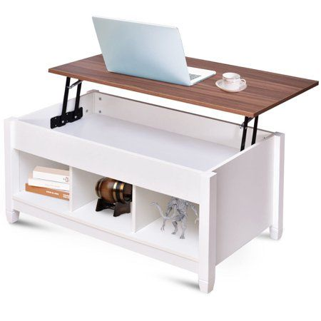 Home Modern Shelving Coffee Table With Storage Lift Top Coffee
