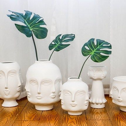 Cheap Pot Plant Holder Buy Quality Planter Design Directly From China Plant Holder Suppliers Creative Design Planter 3d A Nordic Decor Face Vase Flower Vases