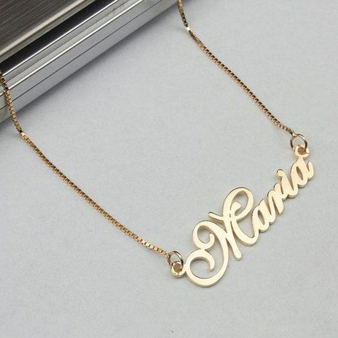 Name Necklace Rose Gold Name Necklace Cursive Name Necklace