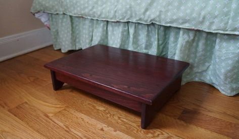 """Choose Stain 11x16 8.5/"""" Handcrafted HeavyDuty Solid Wood Step Stool Bedside Foot"""