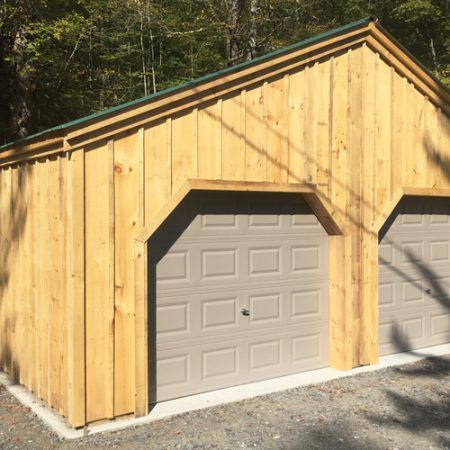 24x24 Simple Garage Shown With The Included Overhead Garage Doors Garage Doors Garage Door Design Garage Design