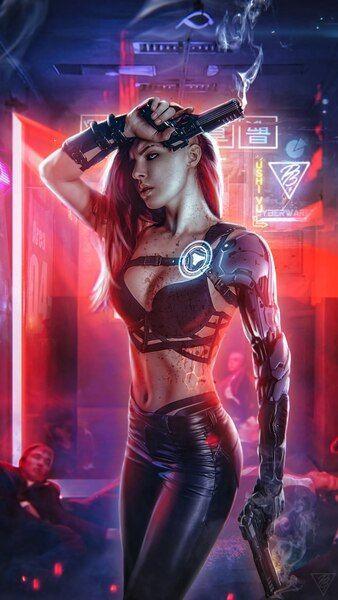 Cyberpunk Girl Pistol Guns Sci Fi 4k Hd Mobile Smartphone And Pc Desktop Laptop Wallpaper Cyberpunk Girl Cyberpunk Art Cyberpunk Aesthetic Cyberpunk 4k wallpaper for mobile