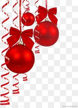빨간 공 크리스마스 리본 크리스마스 배경