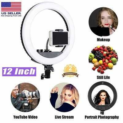 Ad 12 Led Ring Light Kit With Tripod Dimmable 6000k 28w For Makeup Phone Camera Us Led Ring Light Led Ring Camera