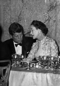 A Ball at the Waldorf Astoria Hotel in NYC, John Fitzgerald KENNEDY and the Duchess of Windsor.