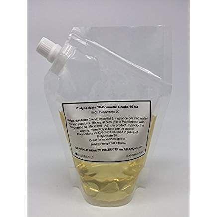 Polysorbate 20 Cosmetic Grade 16 Oz Diy Skin Care Skincare Ingredients Polysorbate 20