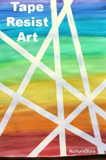 Watercolour Washi Tape Resist Art Tape Art Rainbow Art Tape
