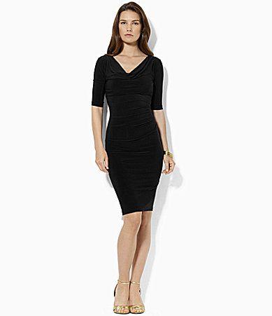 Lauren Ralph Lauren Cowlneck Draped Dress  Dillards  1deb0b75054