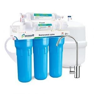 Ecosoft 5 Stage Osmosis Water Softener Filter System Reverse