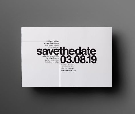 Helvetica Monochrome Save The Date By The Letterist