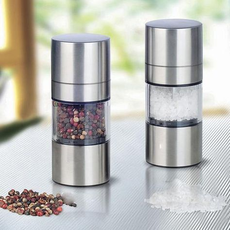 Silver Salt pepper mill grinder Kitchen Accessories Manual Grinding High quality