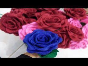 Pin By Saiin On Bunga Mawar Felt Flowers Diy Felt Flowers Felt Flower Tutorial