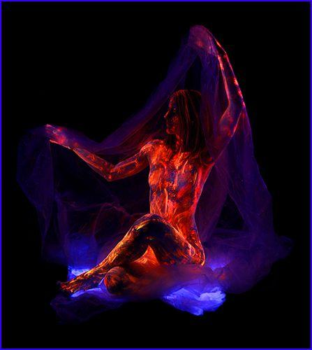 John Poppleton Blacklight Creations Multimedium Pinterest - Amazing black light body art photography john poppleton