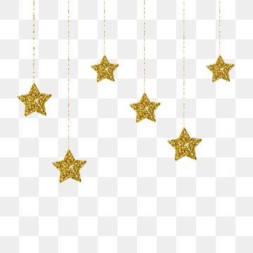 Elegant Golden Stars Hanging Vector Illustration Png And Vector Estrelas Penduradas Numeracao Das Artes Logotipo Floral