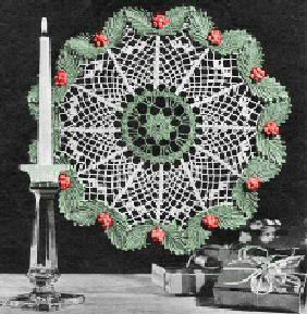 Christmas Doily - free crochet pattern