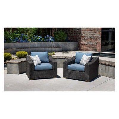 La Z Boy Outdoor New Boston 2pc Wicker Lounge Chair