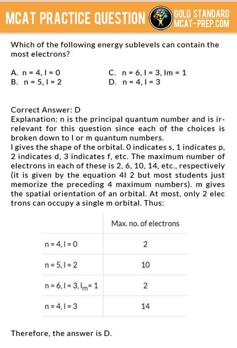 Free practice mcat questions