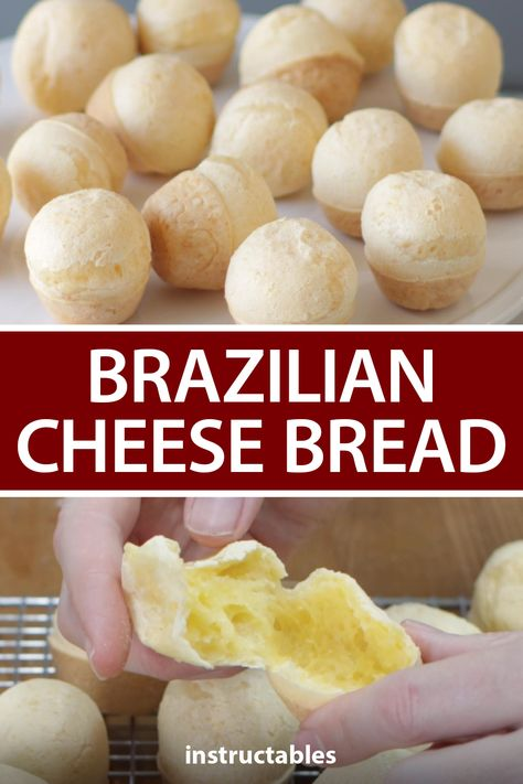 In The Kitchen With Matt shares how to make these mini tasty Brazilian cheese breads, Pão De Queijo. #Instructables #recipe #baking #snack #appetizer