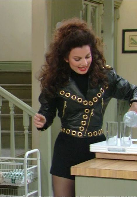 Fran Drescher's 'The Nanny' Style Is Having a Moment - Fran Drescher's Style Leather Jacket and Mini Skirt Outfit As Seen on The Nanny // More Style - Fran Drescher, Nanny Outfit, Style Outfits, Cute Outfits, Fashion Outfits, Fashion Pics, Style Clothes, Fashion Boots, The Nanny