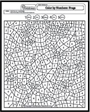 Color by Number Coloring Pages                              …