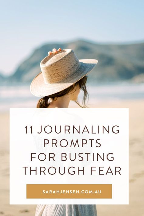 Journaling Tips for Ditching Fear & Reaching Your Goals: If fear is coming up for you in your life or business right now, I invite you to grab your journal, get comfy and open your heart as you ponder and explore these journaling prompts. #sarahjensen #journaling #journalingprompts #journalingtips #selfcare #selflove #mindset #personalgrowth