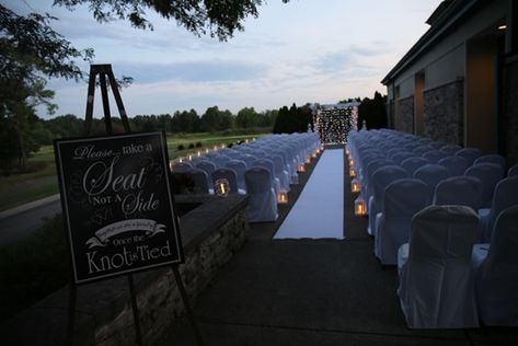 Candle-lit outdoor wedding ceremony at The Medallion Club #outdoorwedding#countryclubwedding#wedding ceremony