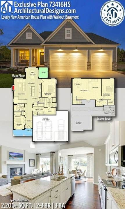 New House Plans Craftsman Country Walkout Basement 56 Ideas House Plans New House Plans Best House Plans
