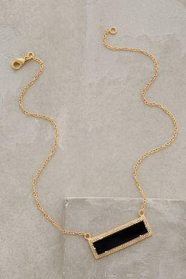 Anthropologie Onyx Bar Necklace #anthroregistry