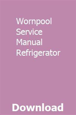 Wornpool Service Manual Refrigerator Manual Transmission Transmission Fluid Change Ford Escape