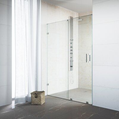 Vigo Ryland 64 X 73 Single Sliding Frameless Shower Door With